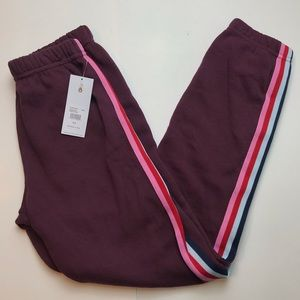 Spiritual Gangster Sessions Sweatpants Wine Stripe